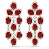 2615 CTW Royalty Designer Ruby  VS Diamond Earrings