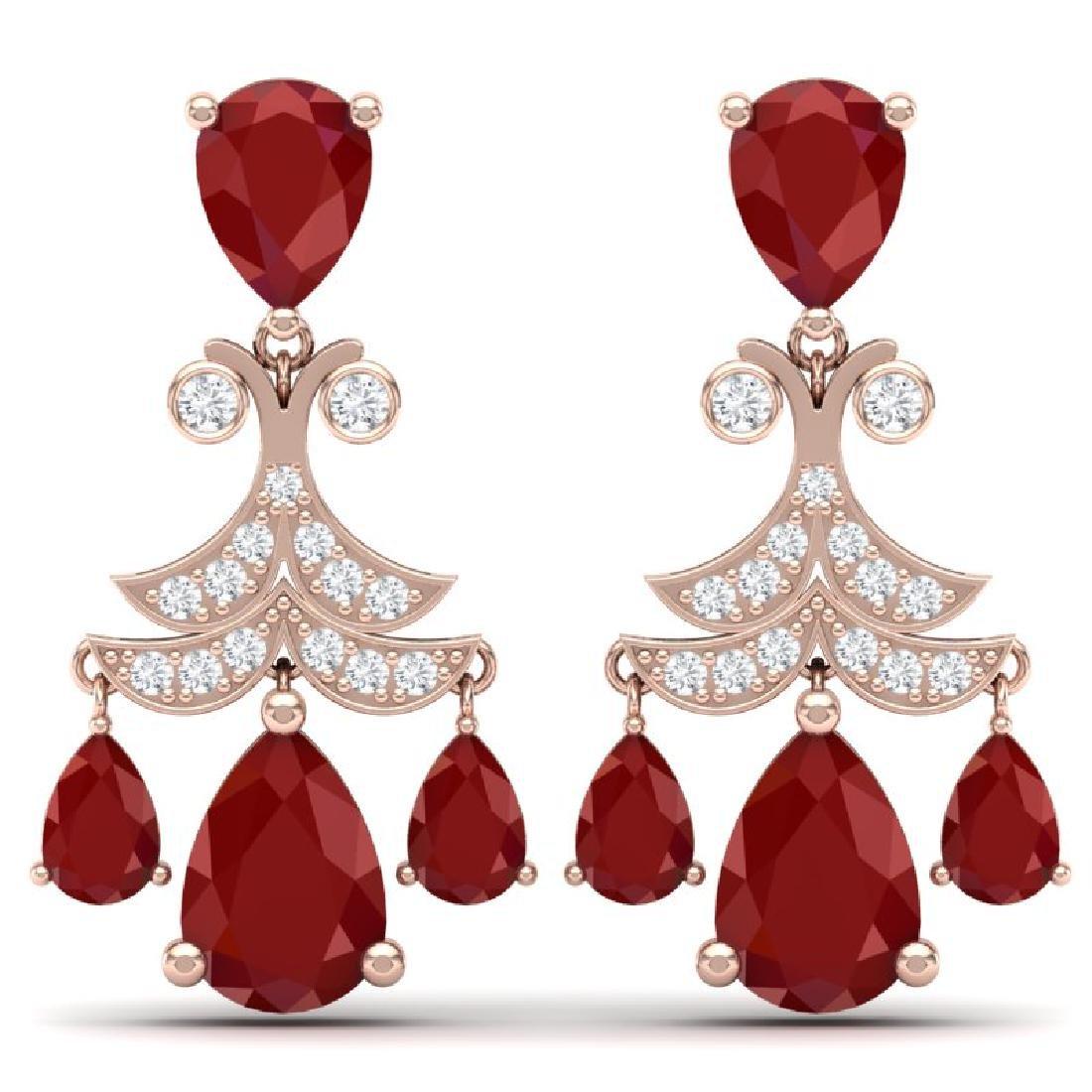 11.97 CTW Royalty Designer Ruby & VS Diamond Earrings