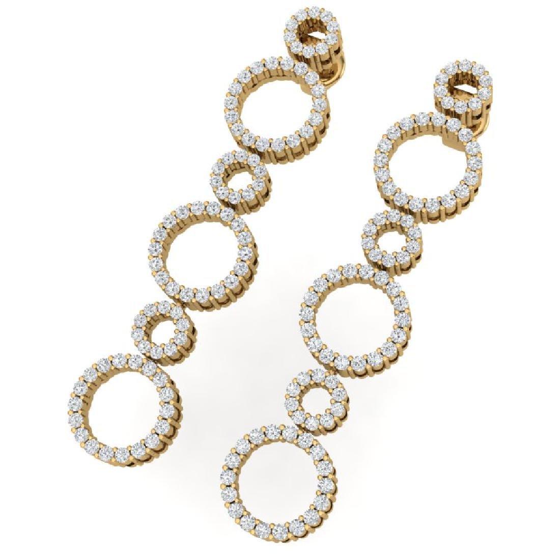 1.50 CTW Certified SI/I Diamond Halo Earrings 18K