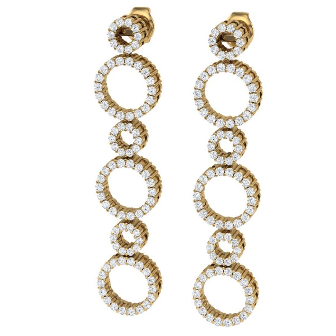 1.50 CTW Certified SI/I Diamond Halo Earrings 18K - 2