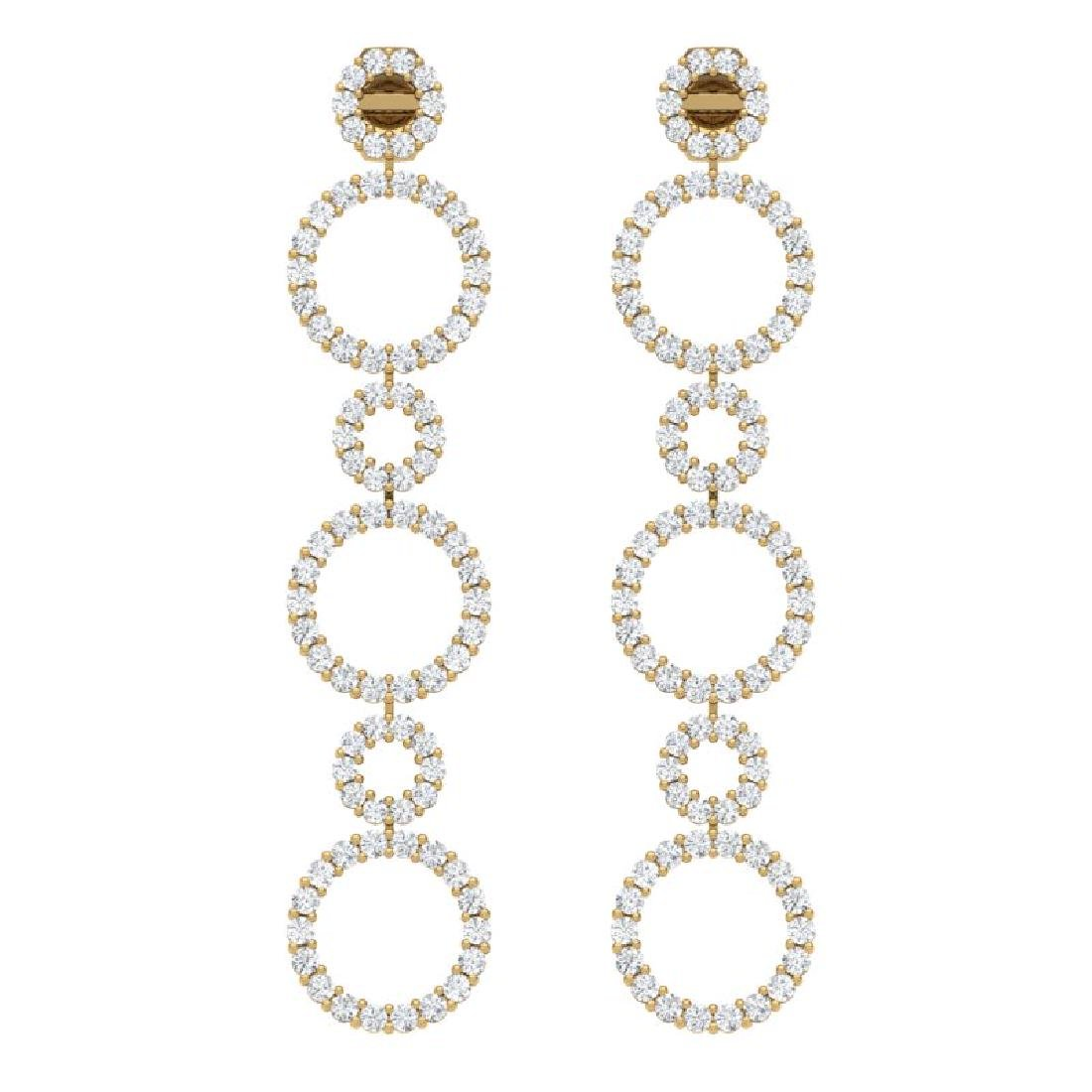 1.50 CTW Certified SI/I Diamond Halo Earrings 18K - 3