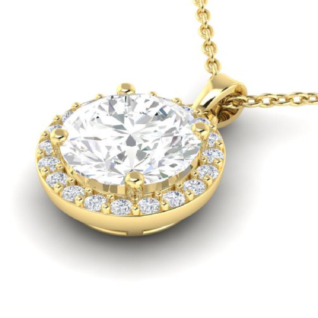 1.75 CTW VS/SI Diamond Pave Necklace 18K Yellow Gold