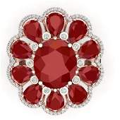 2063 CTW Royalty Designer Ruby  VS Diamond Ring 18K