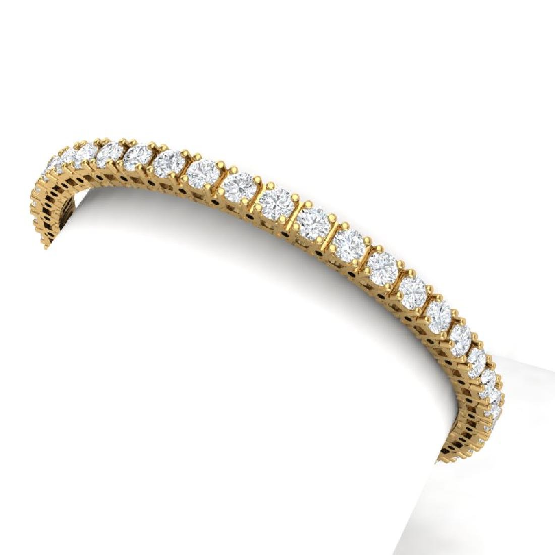 10 CTW Certified VS/SI Diamond Bracelet 18K Yellow Gold