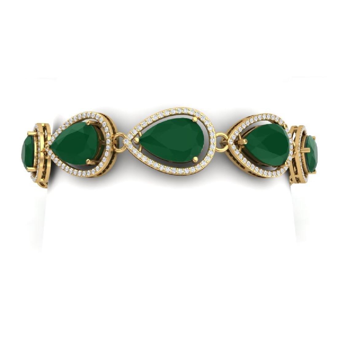 28.31 CTW Royalty Emerald & VS Diamond Bracelet 18K