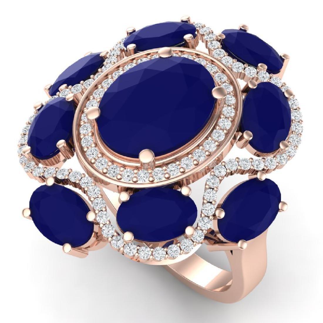 9.86 CTW Royalty Designer Sapphire & VS Diamond Ring