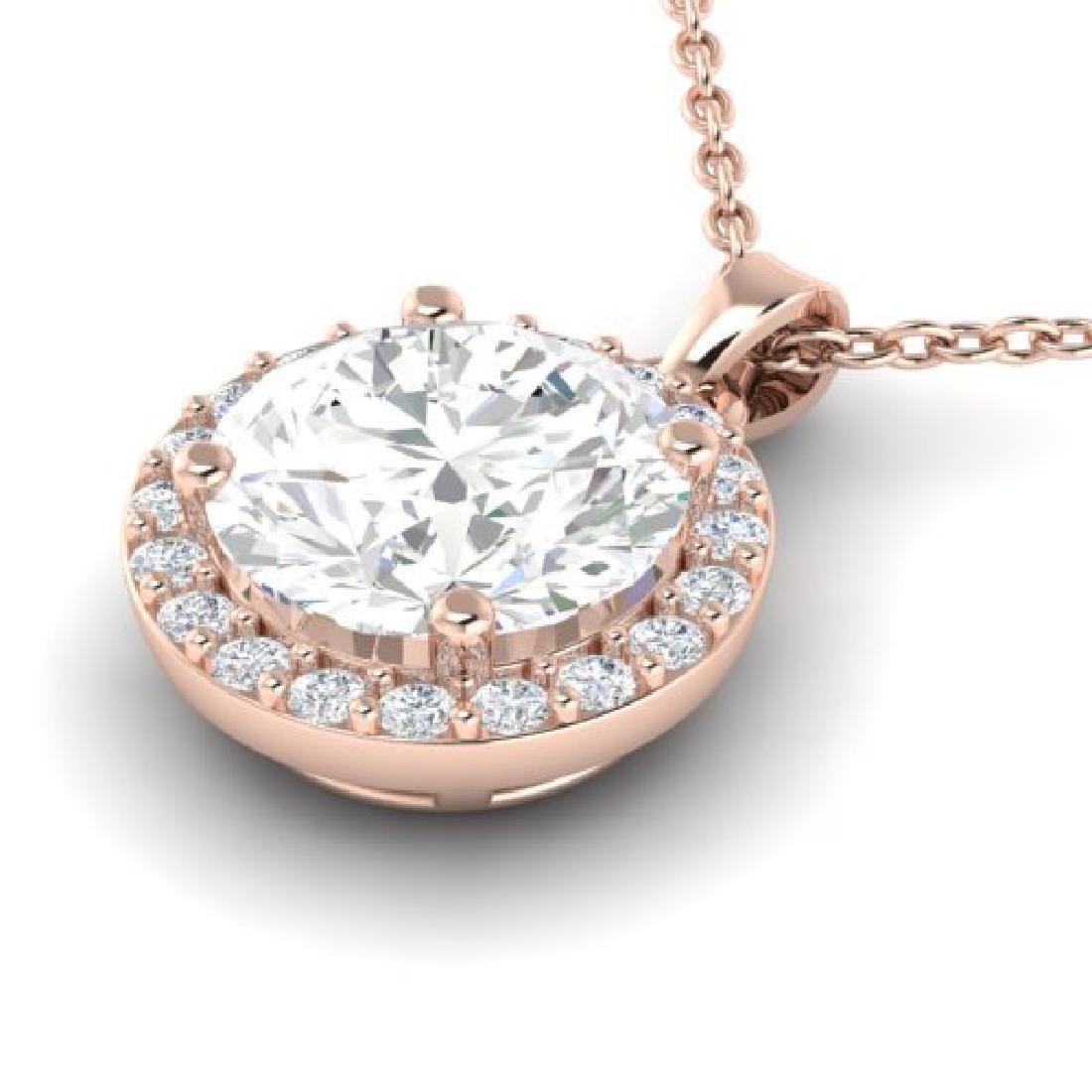 1.75 CTW VS/SI Diamond Pave Necklace 14K Rose Gold