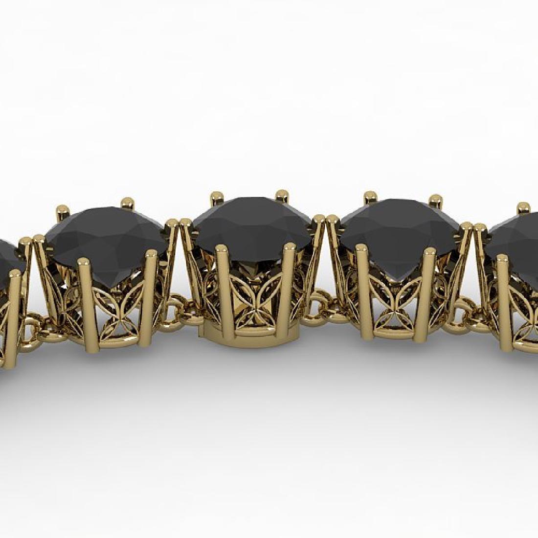 36 CTW Certified Black VS Diamond Necklace 14K Yellow