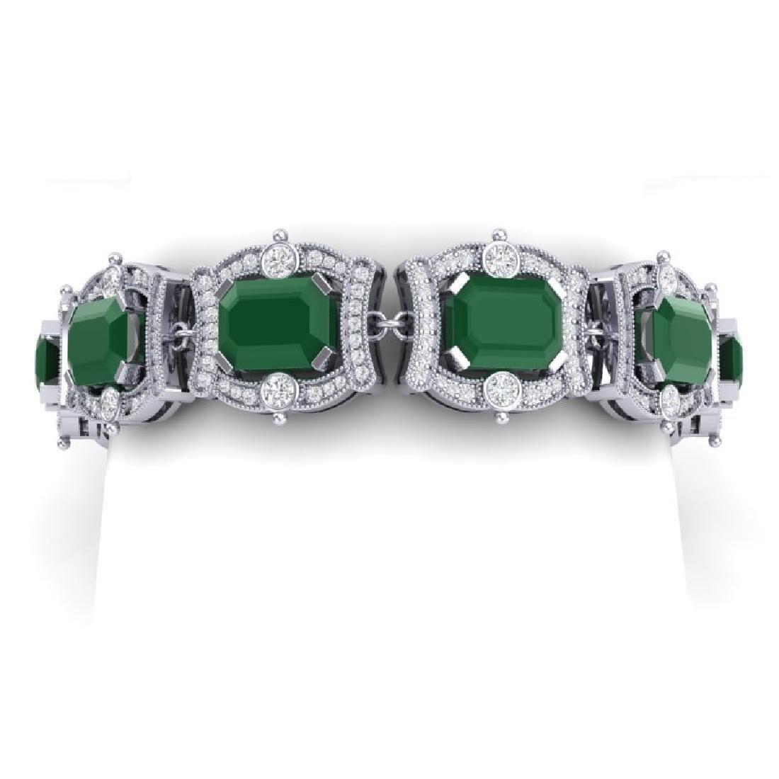 43.87 CTW Royalty Emerald & VS Diamond Bracelet 18K