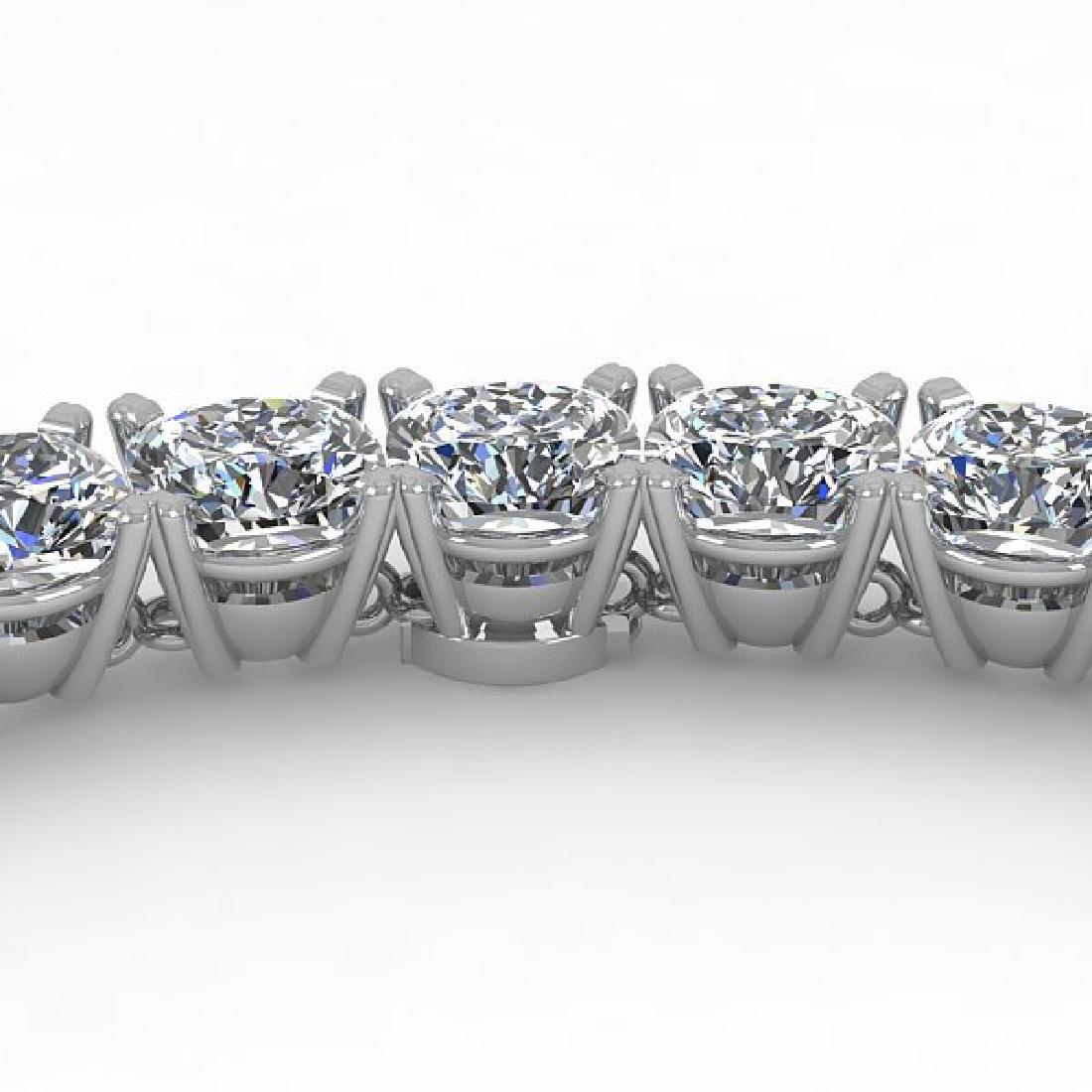 35 CTW Cushion Cut Certified SI Diamond Necklace 18K