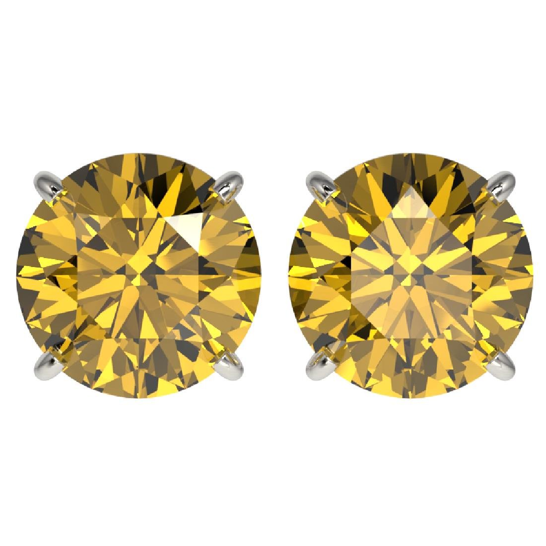 4 CTW Certified Intense Yellow SI Diamond Solitaire