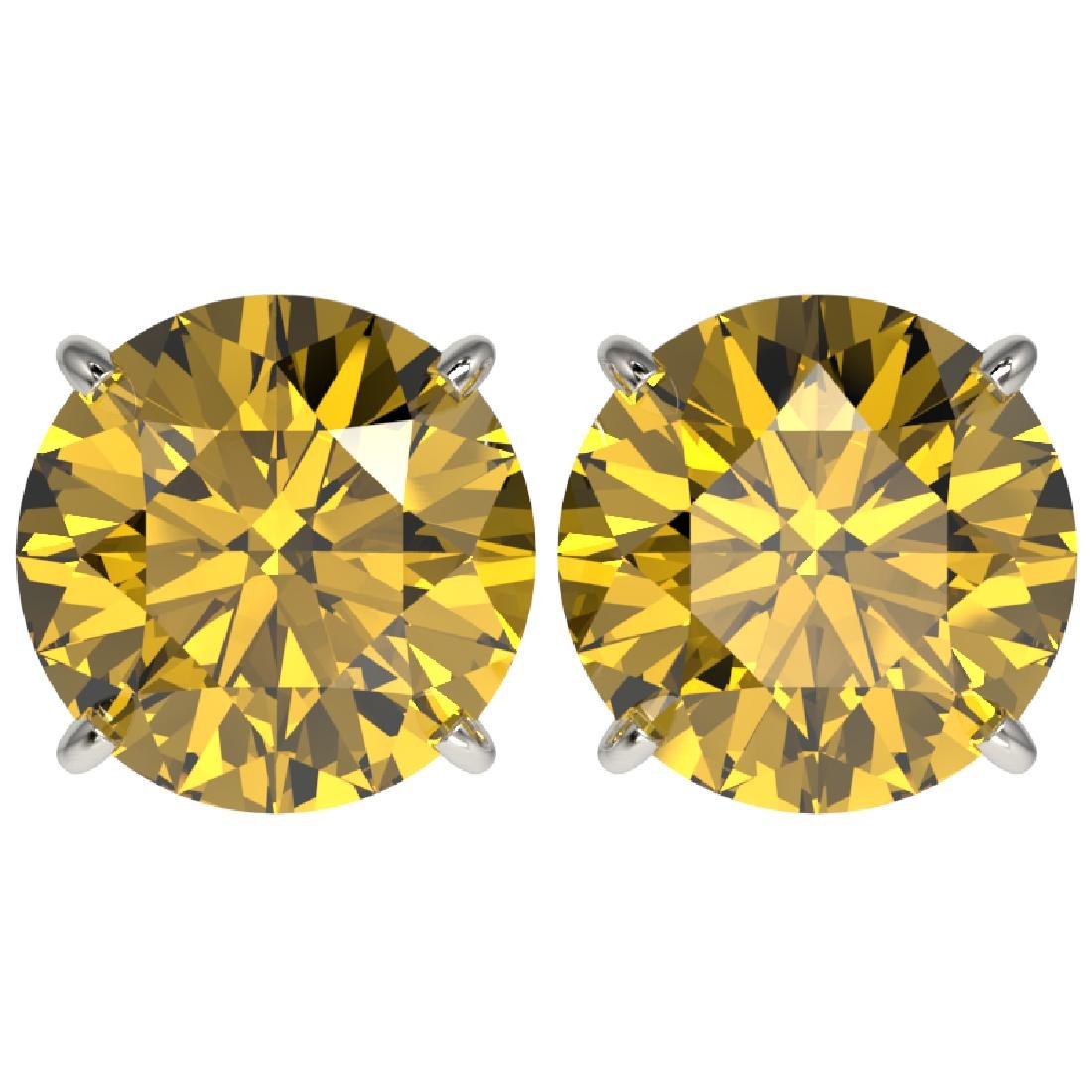 5 CTW Certified Intense Yellow SI Diamond Solitaire