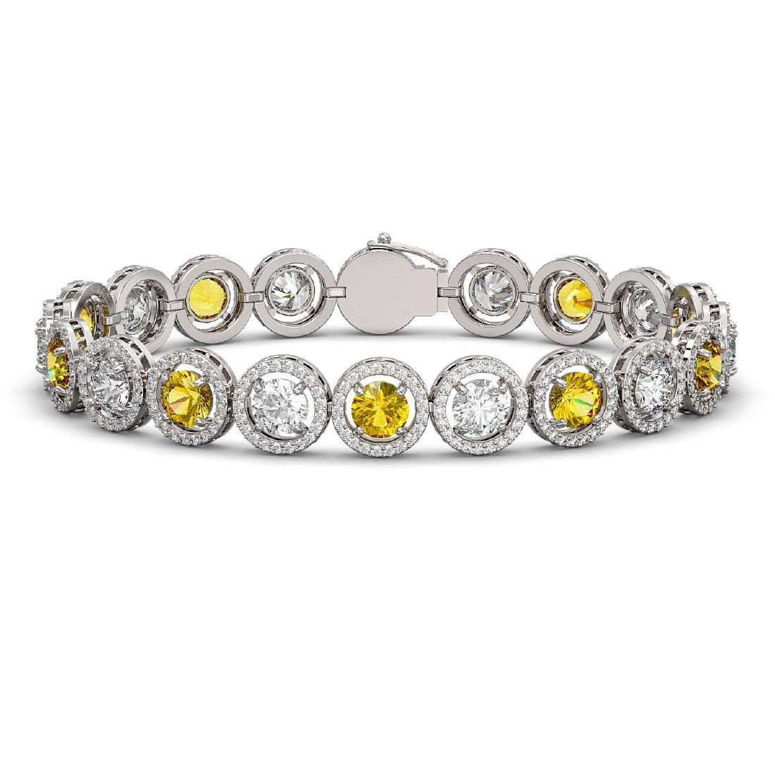 15.47 CTW Canary Yellow & White Diamond Designer
