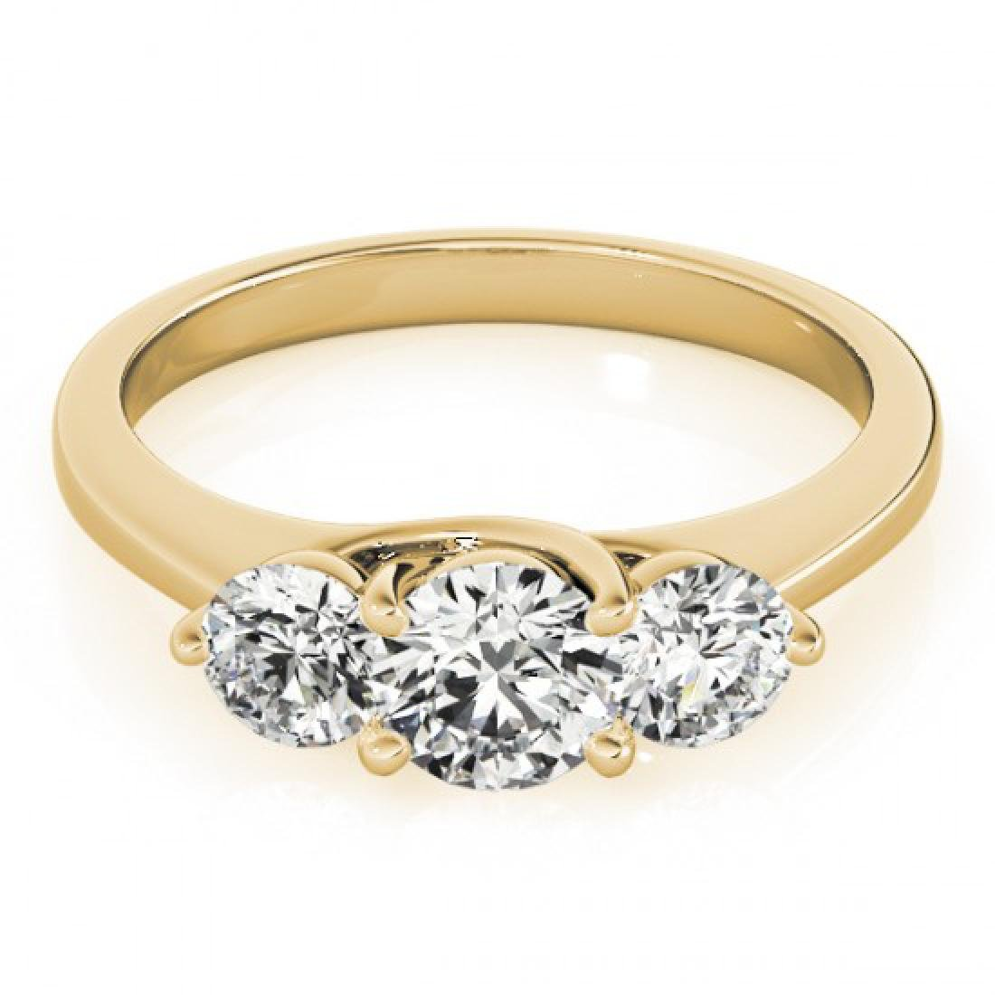 3 CTW Certified VS/SI Diamond 3 Stone Solitaire Ring