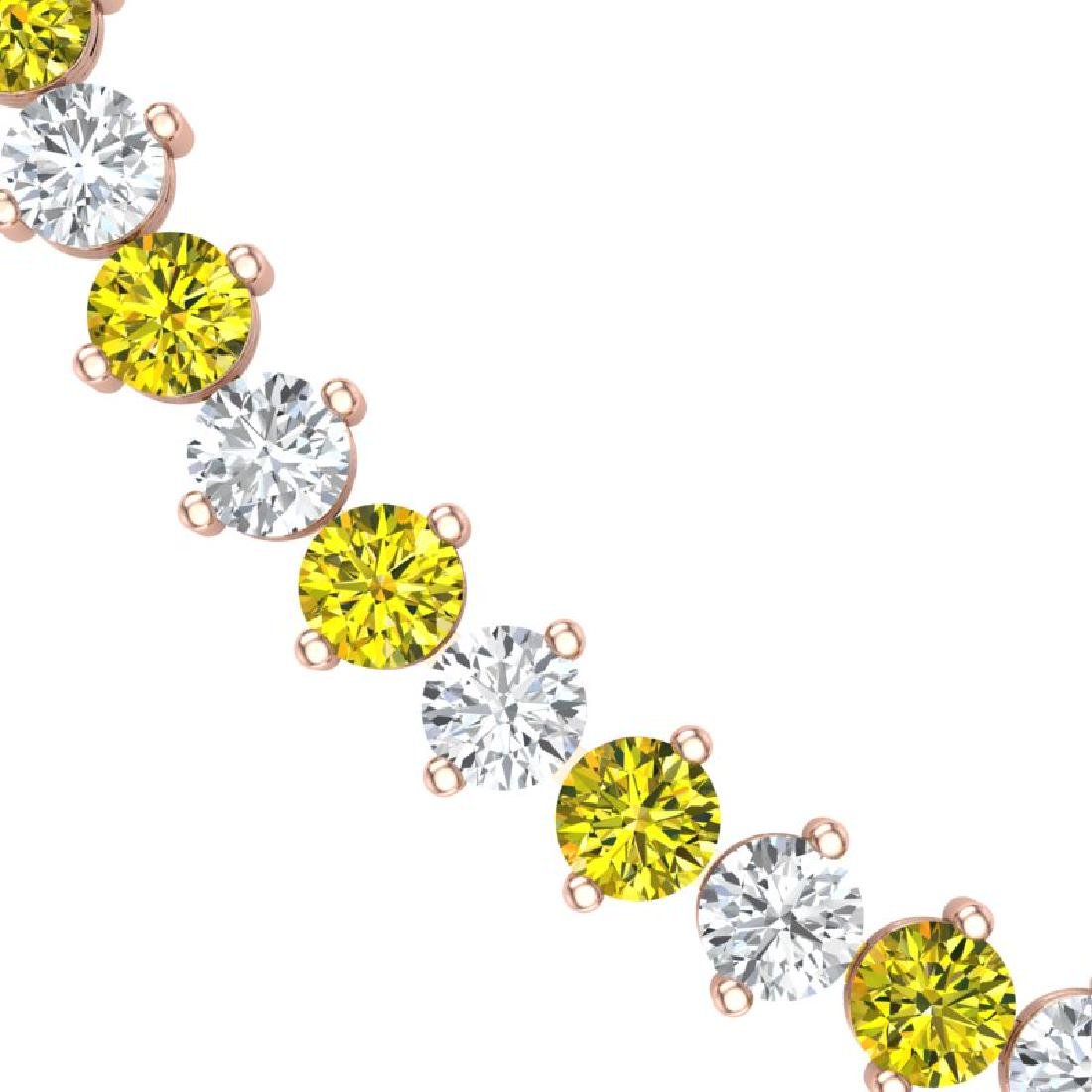 45 CTW SI/I Fancy Yellow & White Diamond Necklace 18K - 2
