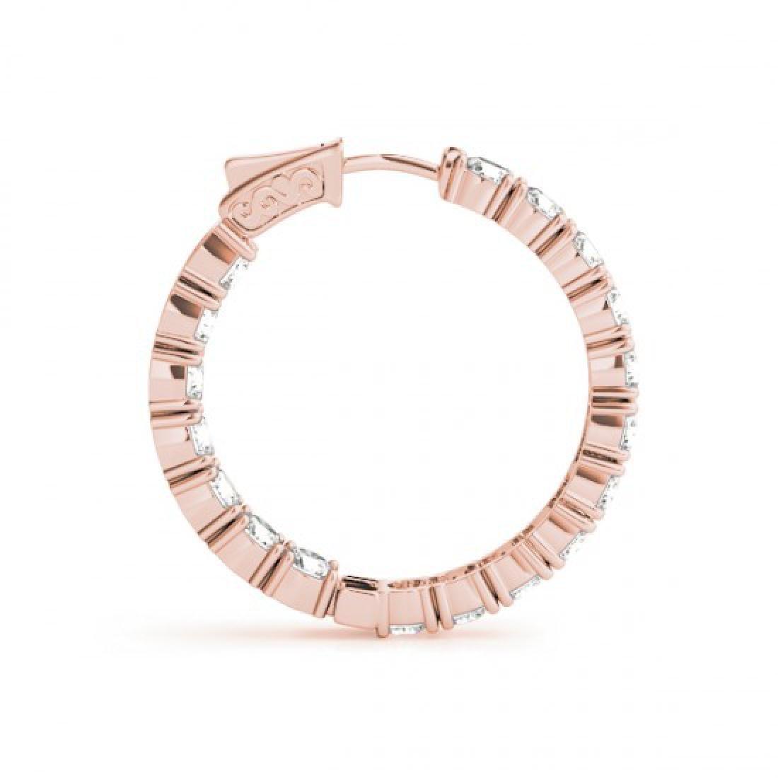 10 CTW Diamond VS/SI Certified 30 Mm Hoop Earrings 14K - 3