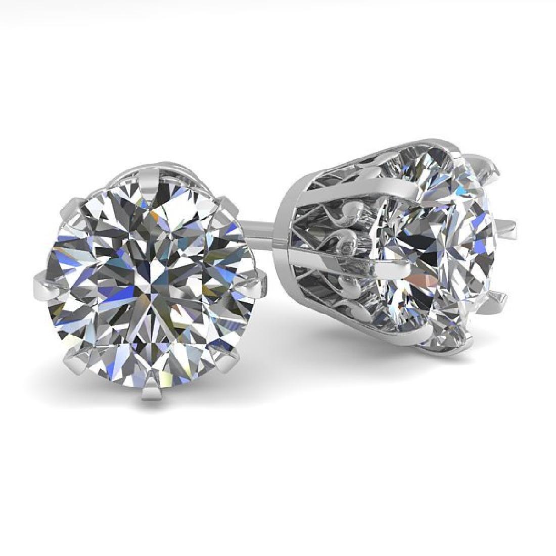 2.50 CTW VS/SI Diamond Stud Solitaire Earrings 14K