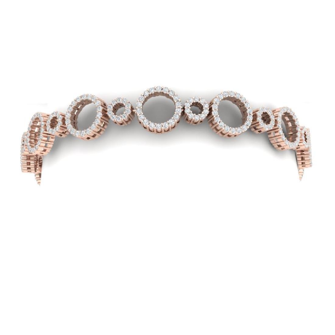 4 CTW Certified SI/I Diamond Halo Bracelet 18K Rose - 2