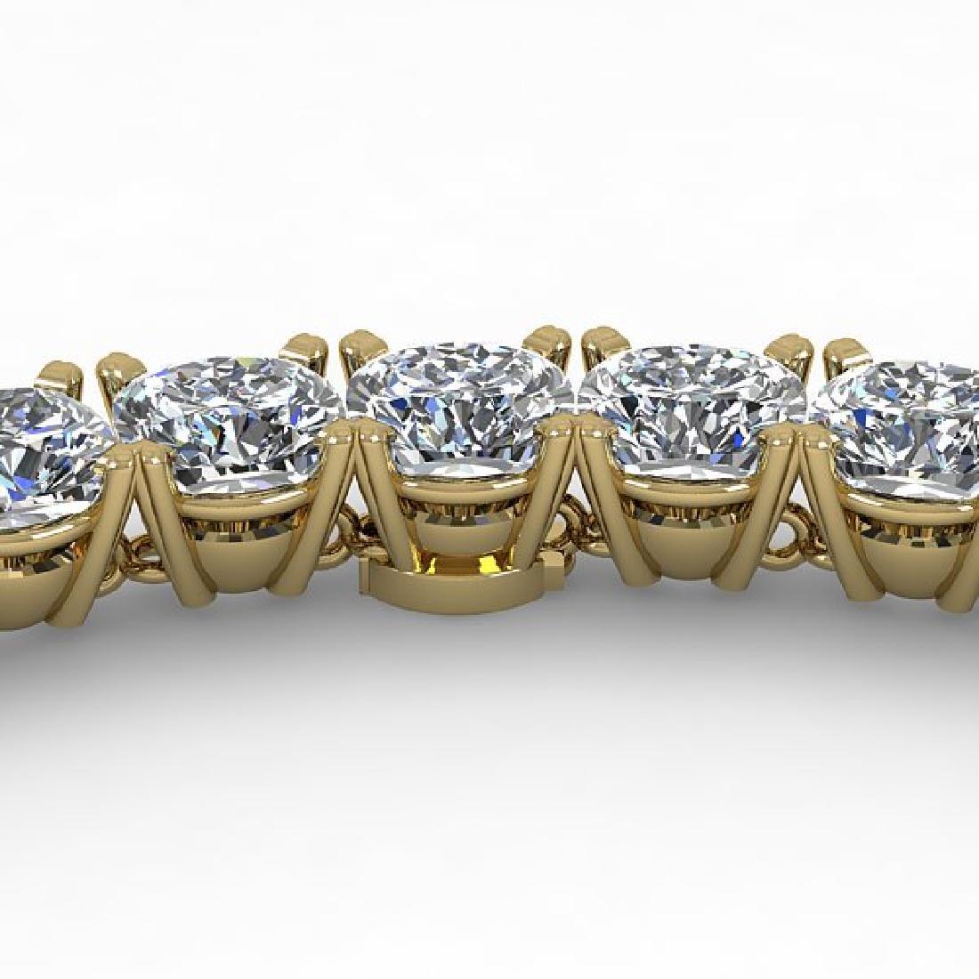 30 CTW Cushion Cut Certified SI Diamond Necklace 14K
