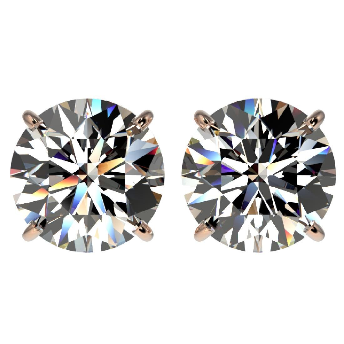 4.04 CTW Certified H-I Quality Diamond Stud Earrings