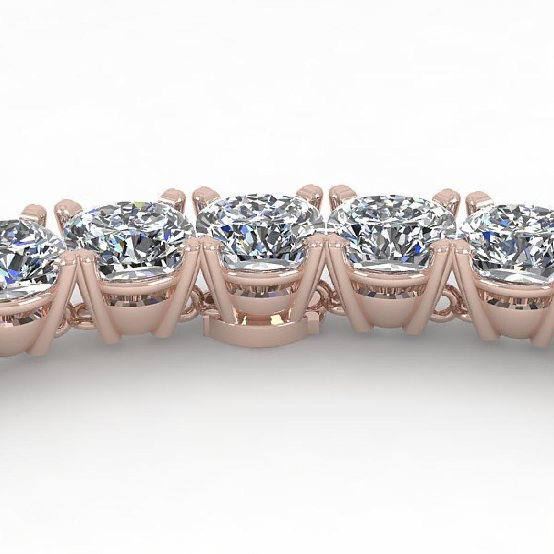 30 CTW Cushion Cut Certified SI Diamond Necklace 18K