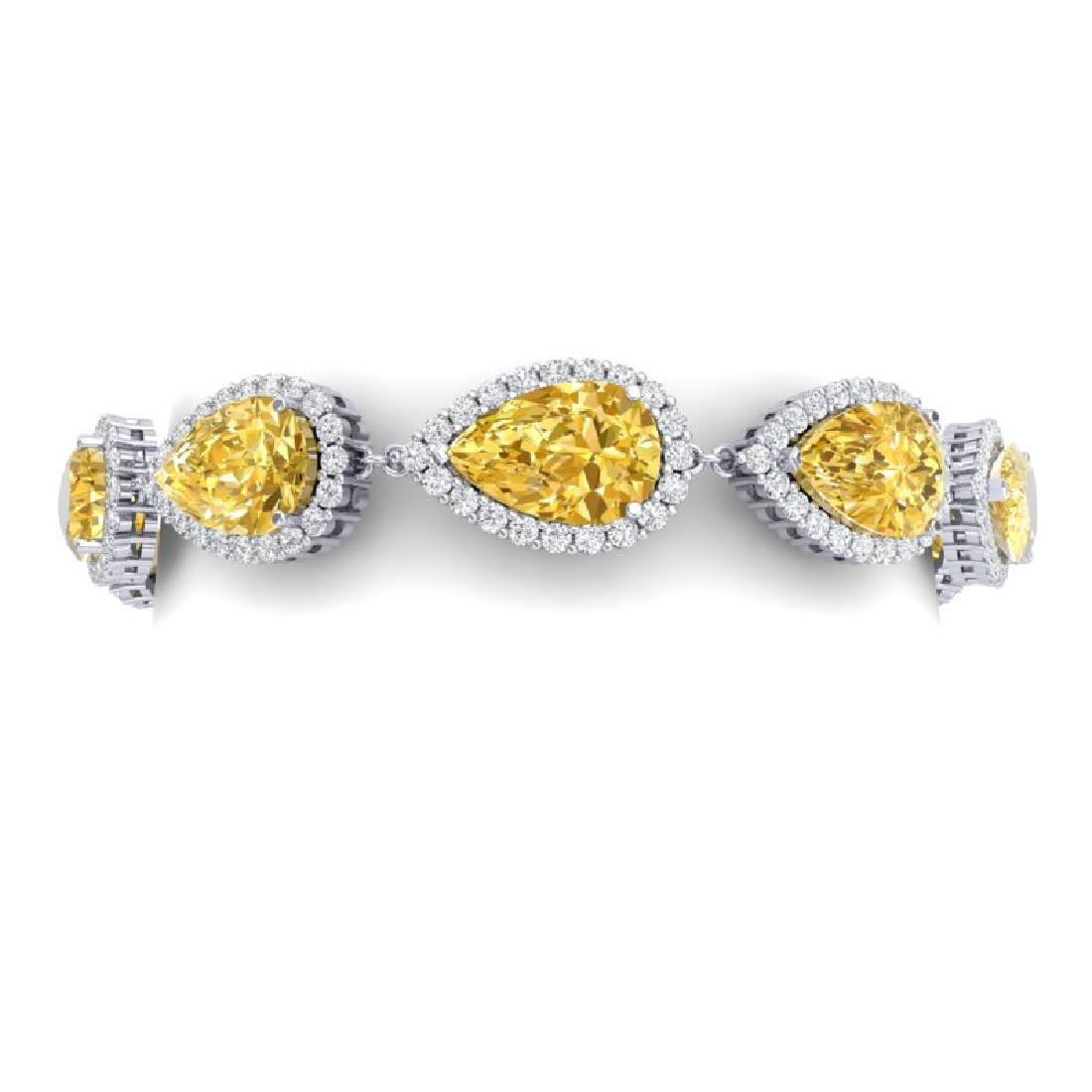 39.26 CTW Royalty Canary Citrine & VS Diamond Bracelet