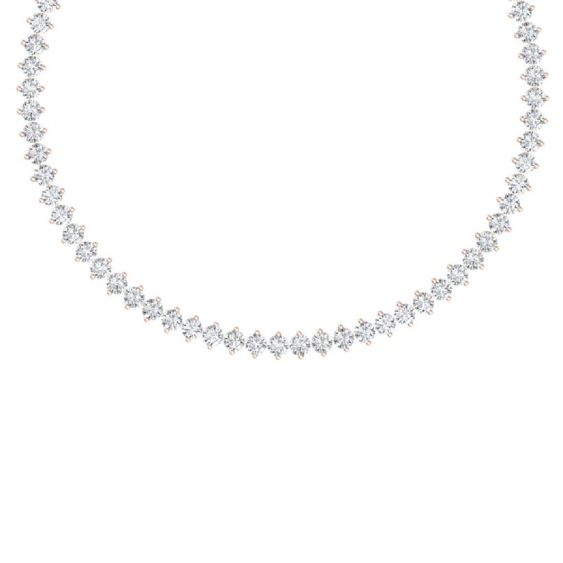 45 CTW Certified SI/I Diamond Necklace 18K Rose Gold