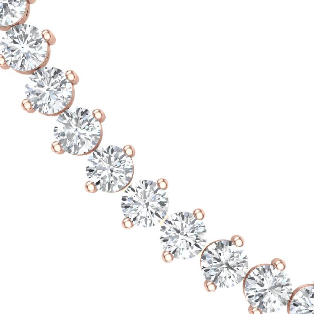45 CTW Certified SI/I Diamond Necklace 18K Rose Gold - 2