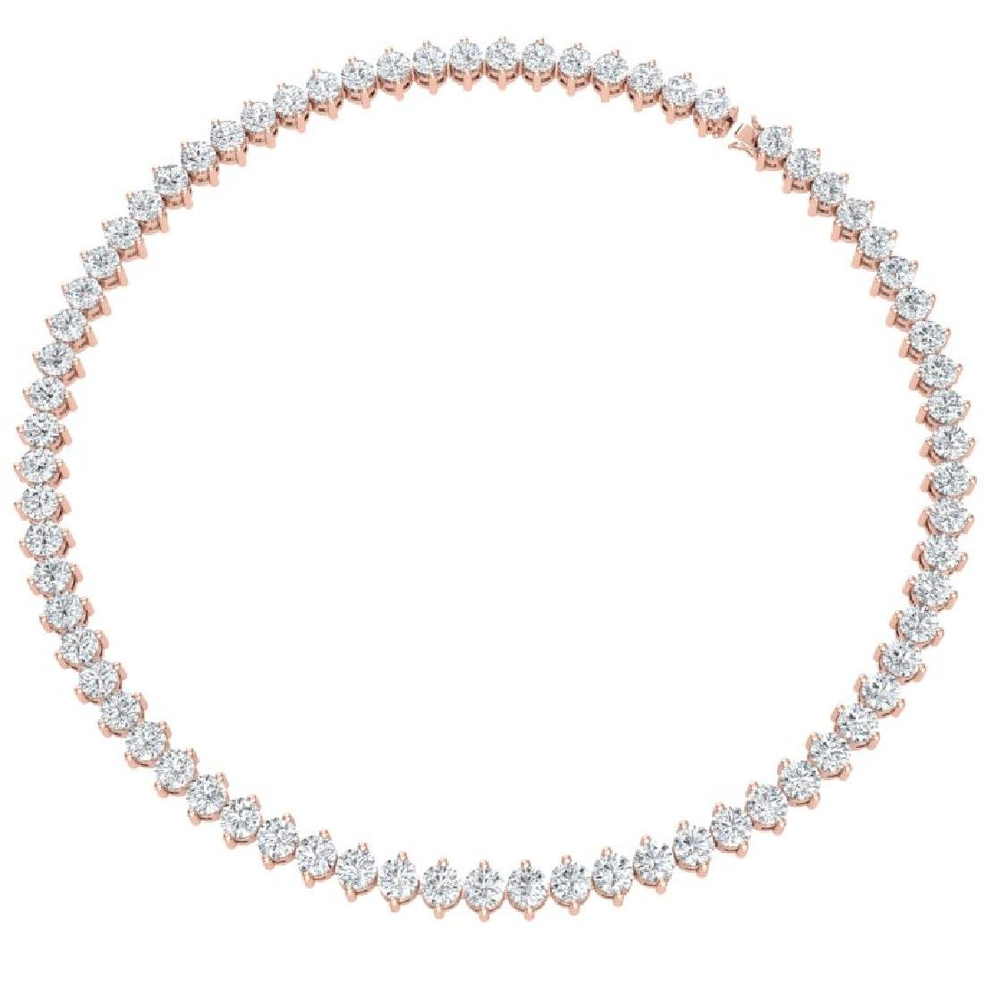 45 CTW Certified SI/I Diamond Necklace 18K Rose Gold - 3