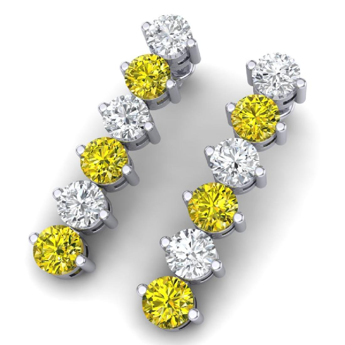 6 CTW Certified SI/I Fancy Yellow & White Diamond