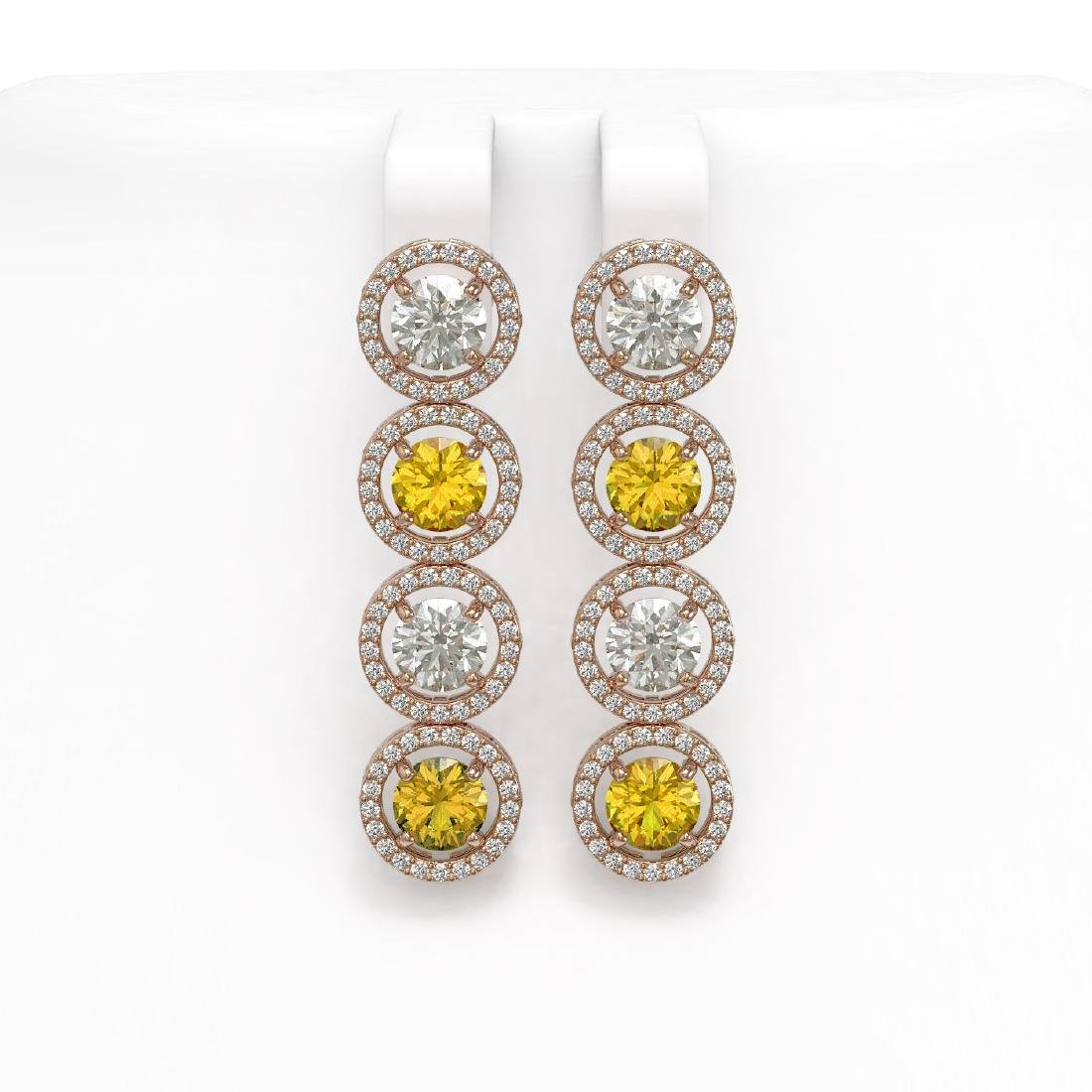 6.18 CTW Canary Yellow & White Diamond Designer