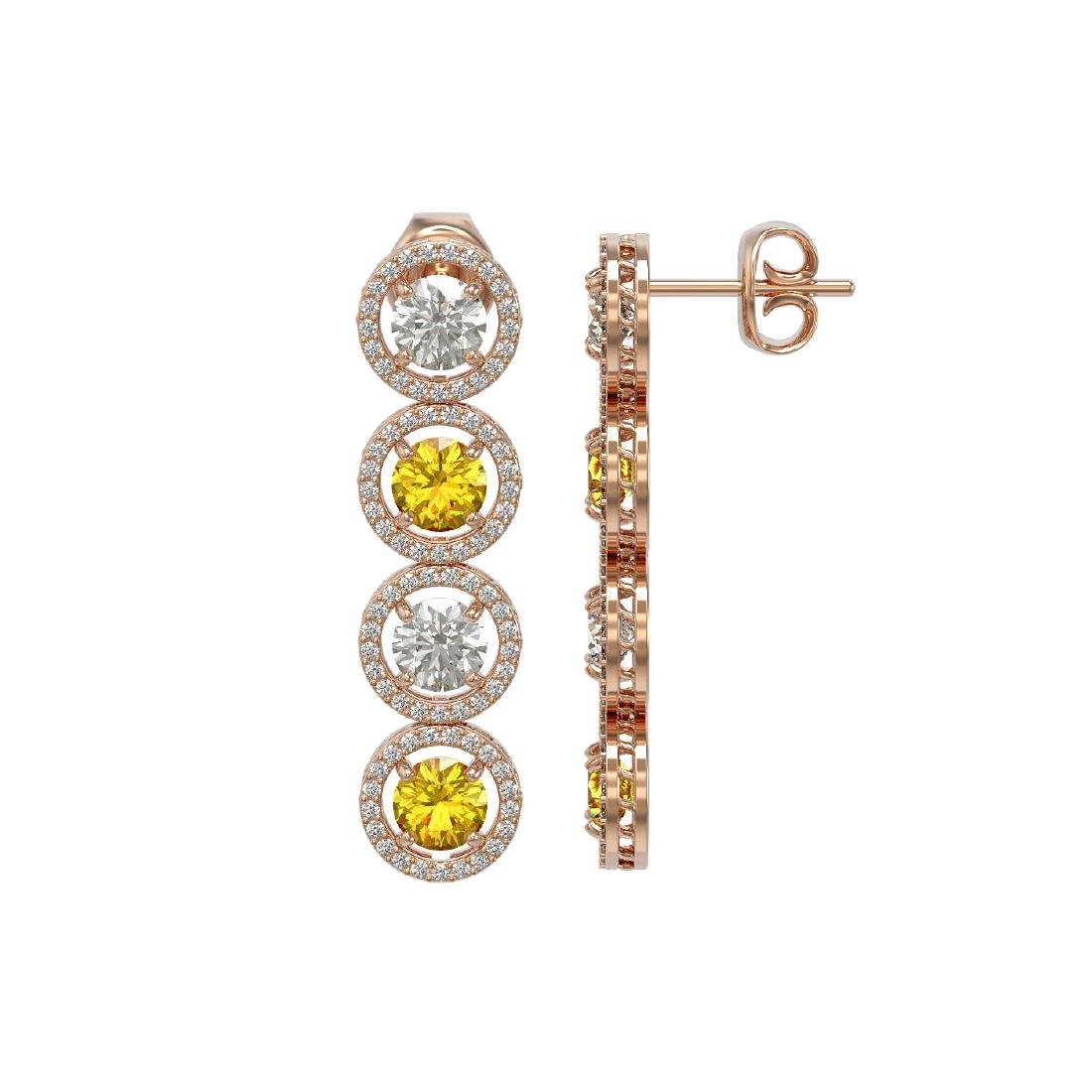 6.18 CTW Canary Yellow & White Diamond Designer - 2