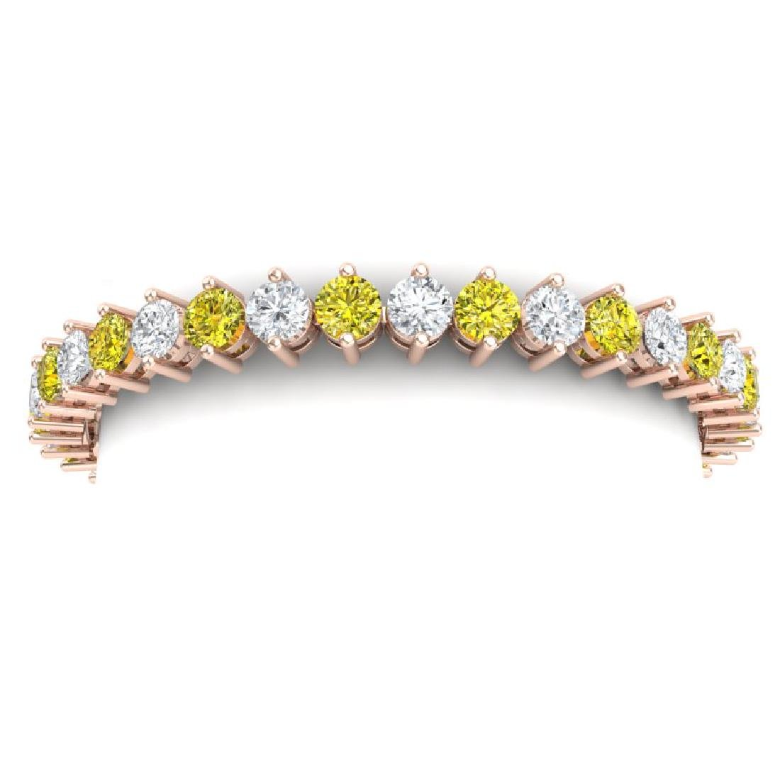 20 CTW SI/I Fancy Yellow & White Diamond Bracelet 18K - 2
