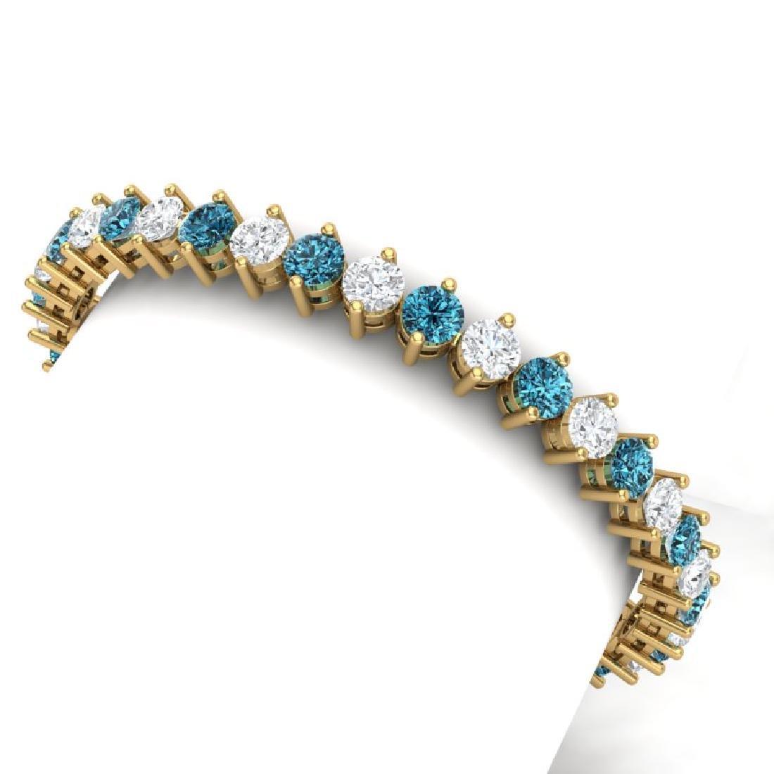20 CTW Certified SI/I Intense Blue & White Diamond