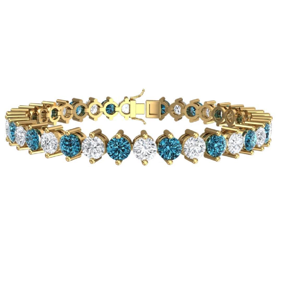 20 CTW Certified SI/I Intense Blue & White Diamond - 3