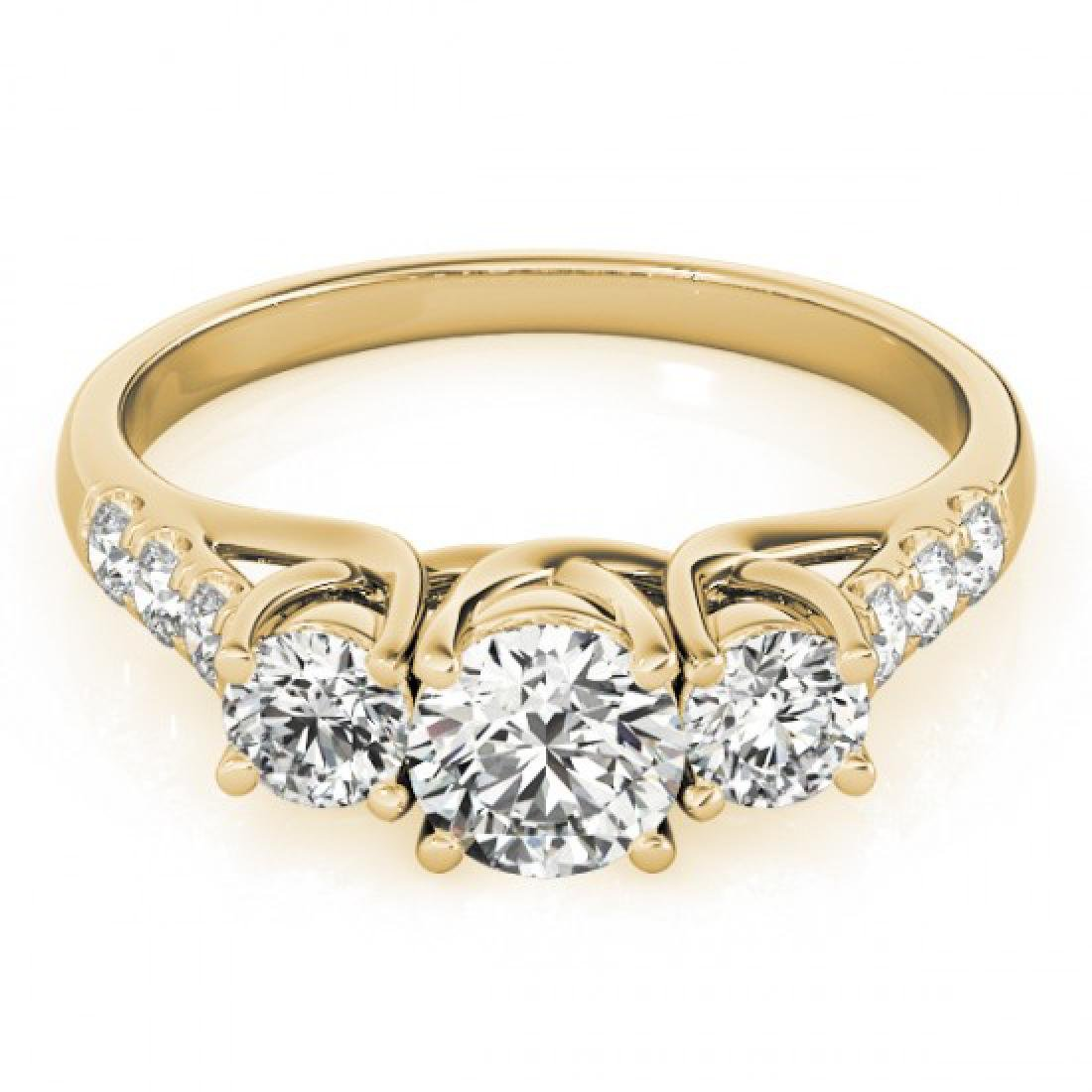 3.25 CTW Certified VS/SI Diamond 3 Stone Bridal Ring