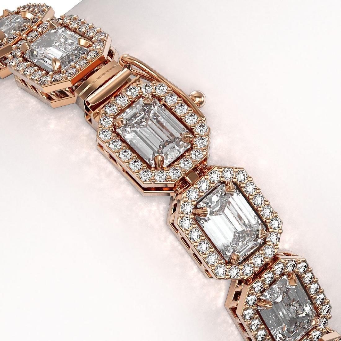 16.72 CTW Emerald Cut Diamond Designer Bracelet 18K - 3
