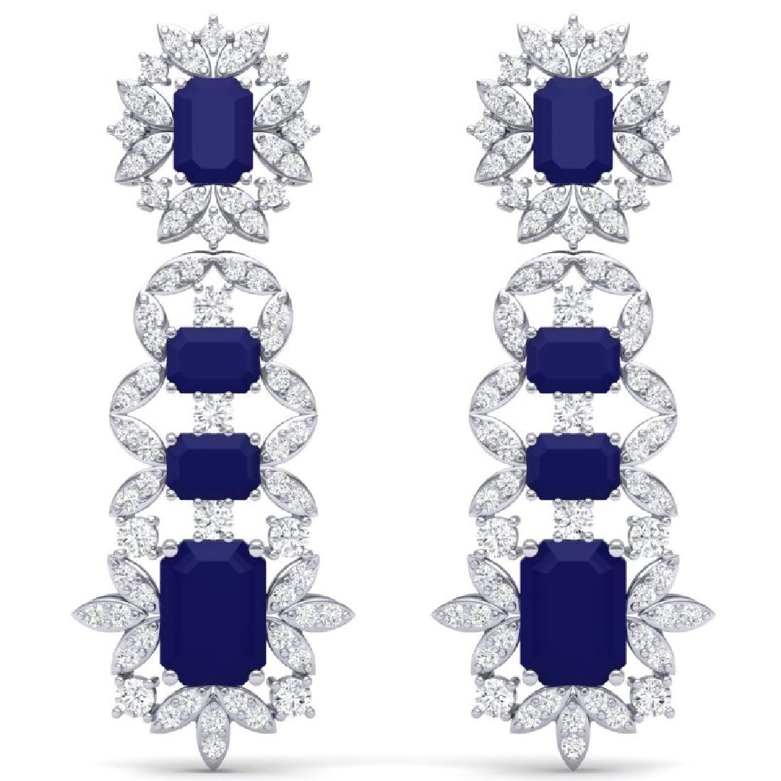 30.25 CTW Royalty Sapphire & VS Diamond Earrings 18K