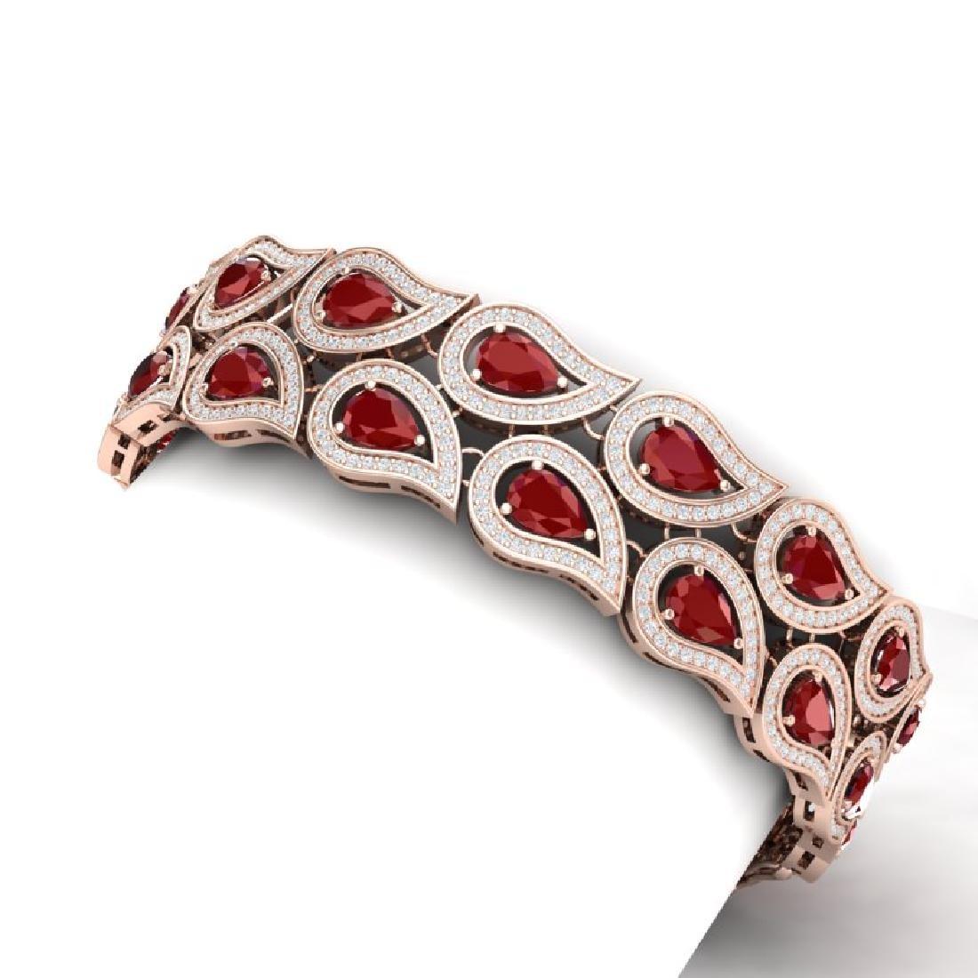 20.1 CTW Royalty Designer Ruby & VS Diamond Bracelet - 2
