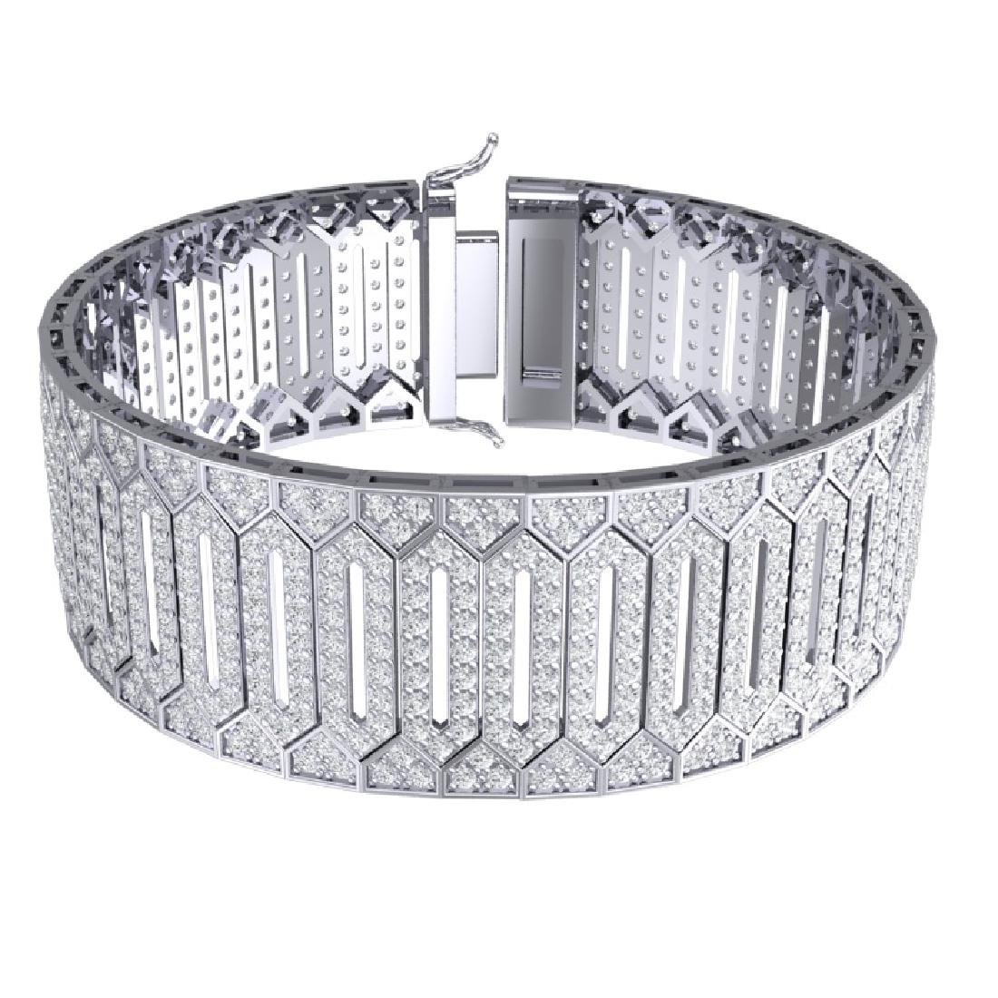 23 CTW Certified VS/SI Diamond 8 Inch Bracelet 18K - 3
