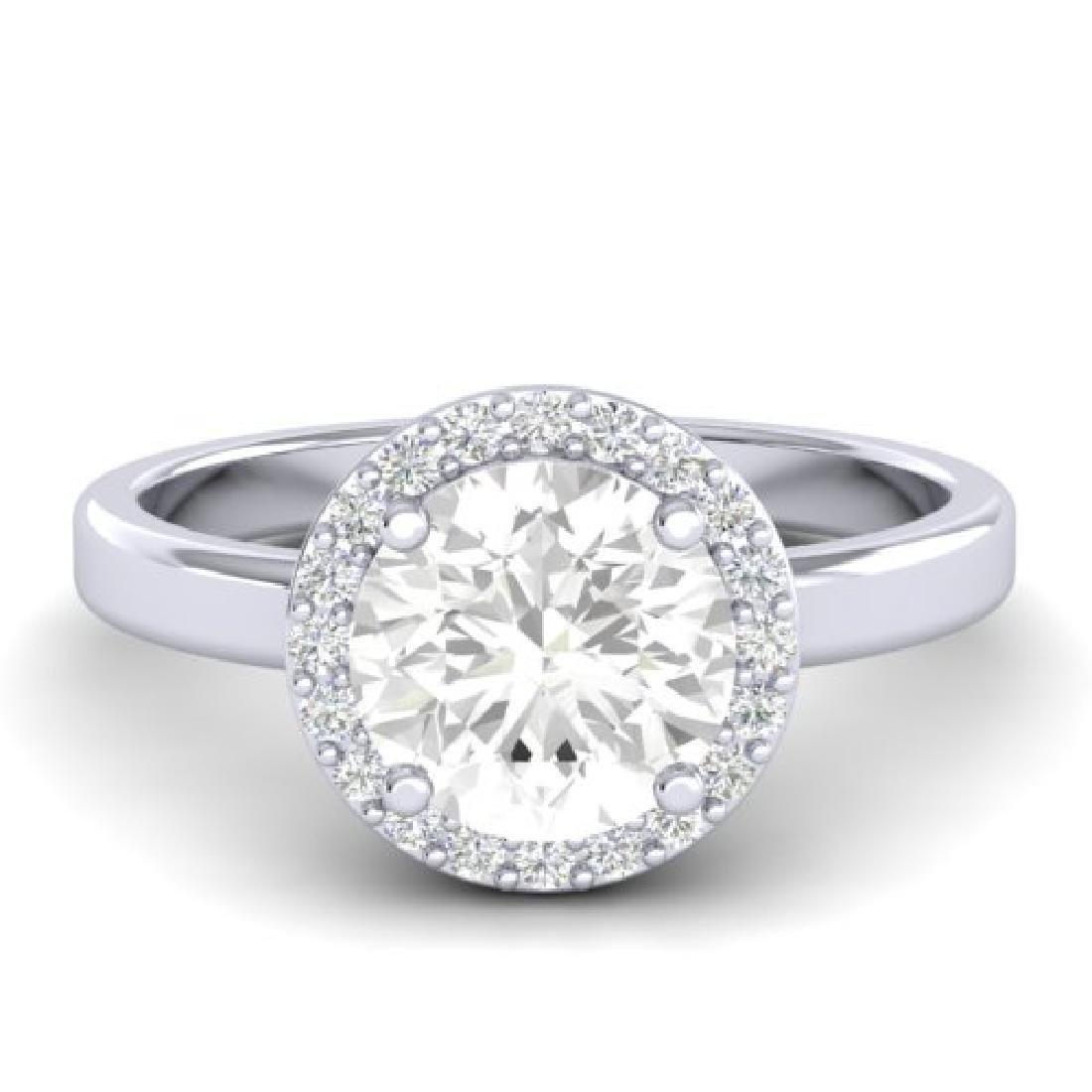 1.75 CTW VS/SI Diamond Pave Ring Bridal 18K White Gold