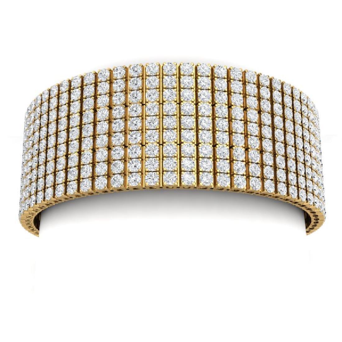 43 CTW Certified VS/SI Diamond Unisex 8 Inches Bracelet - 2