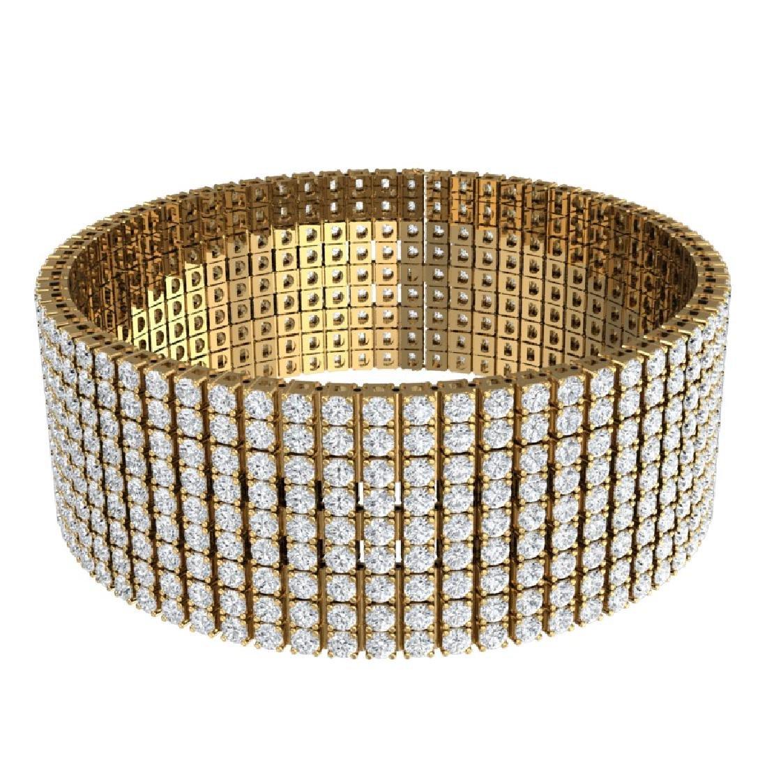 43 CTW Certified VS/SI Diamond Unisex 8 Inches Bracelet - 3