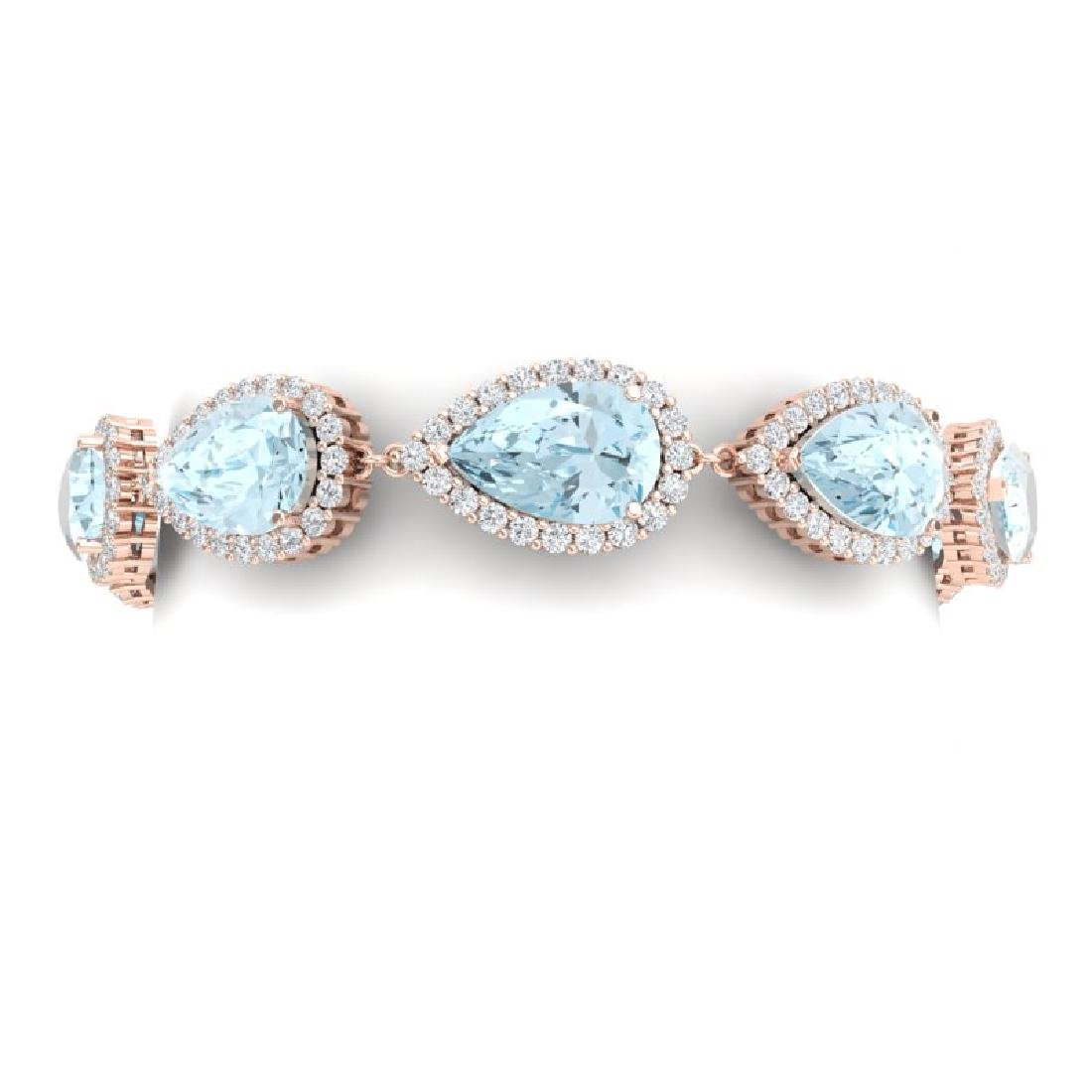41.87 CTW Royalty Sky Topaz & VS Diamond Bracelet 18K