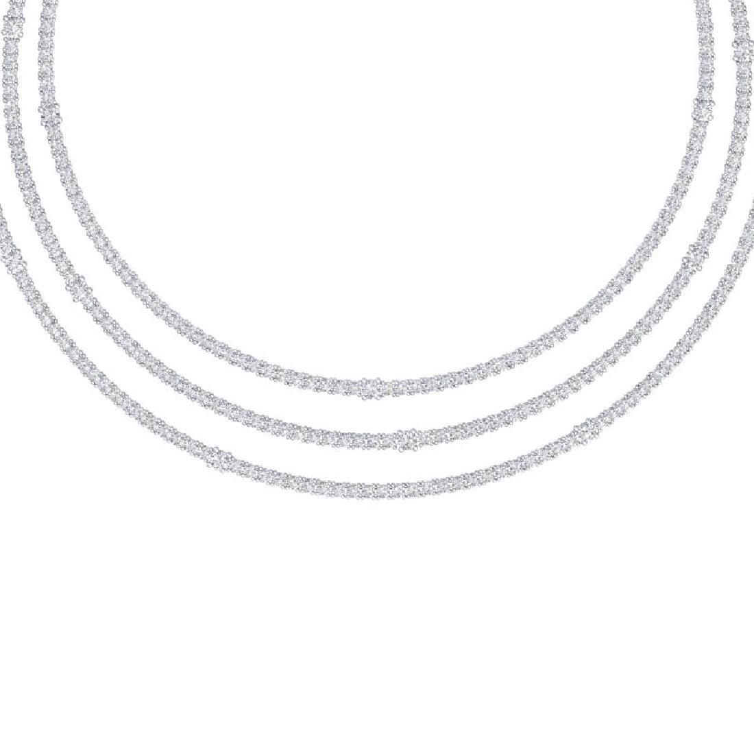 30 CTW Certified VS/SI Diamond Love Necklace 18K White