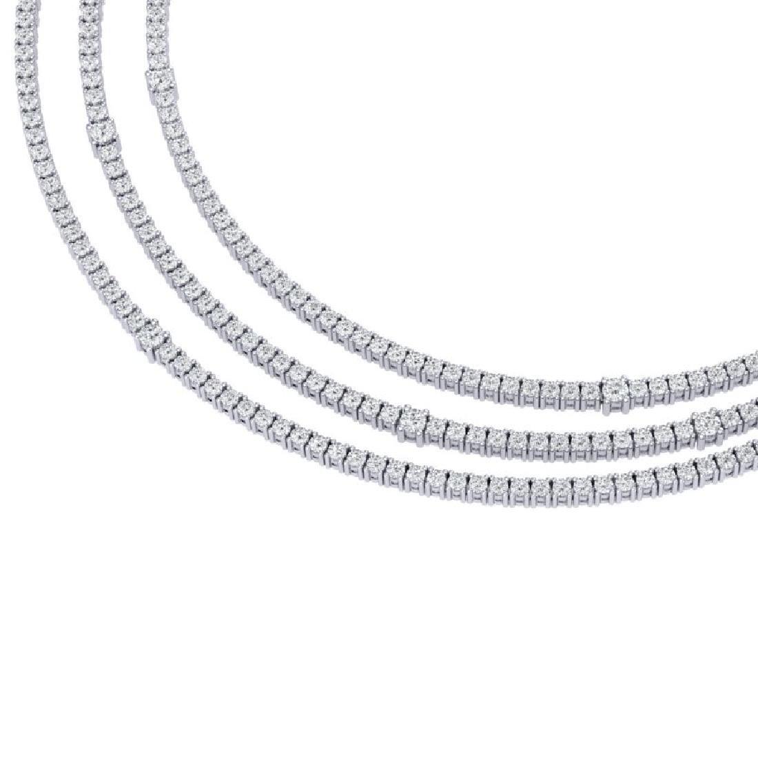 30 CTW Certified VS/SI Diamond Love Necklace 18K White - 2
