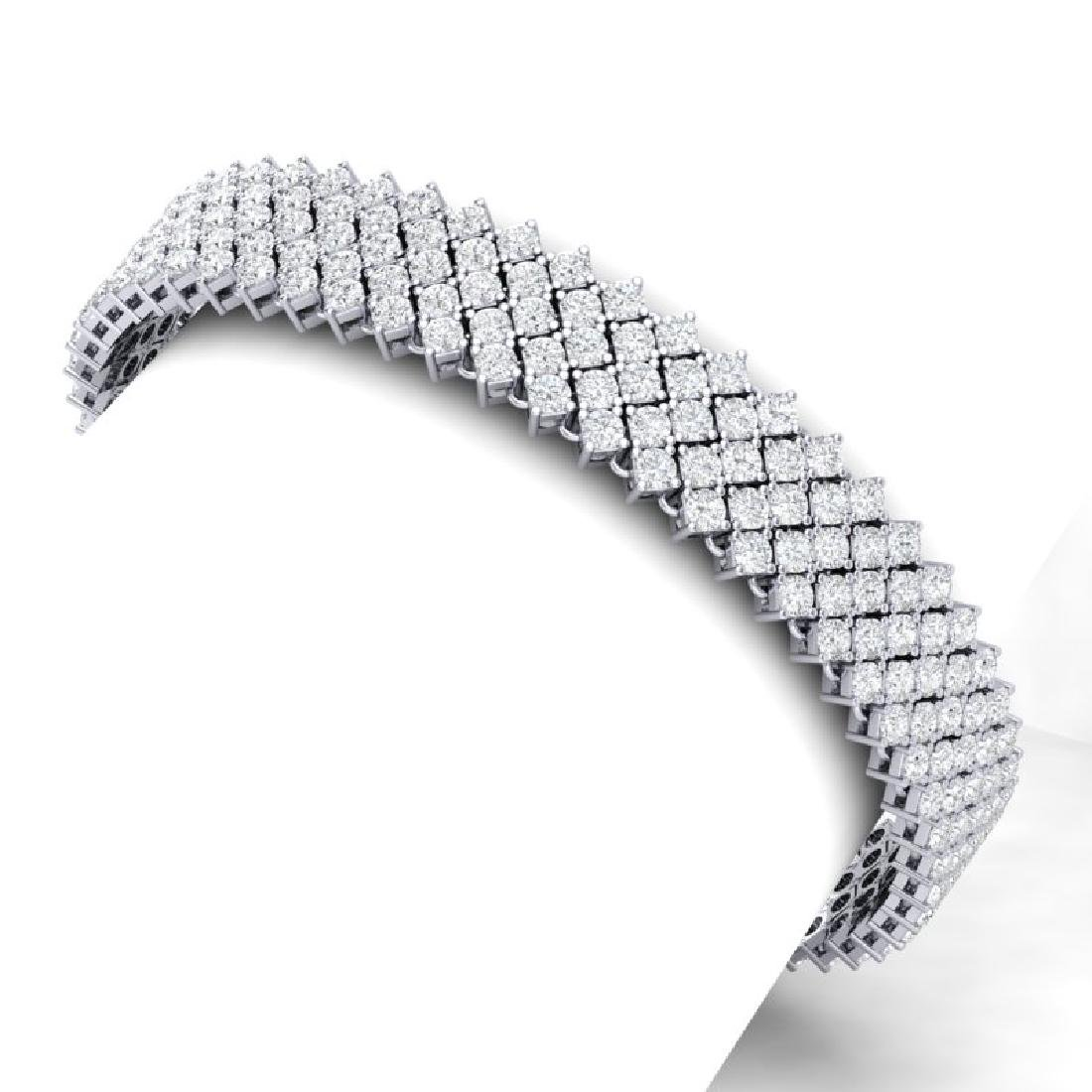 20 CTW Certified VS/SI Diamond Bracelet 18K White Gold