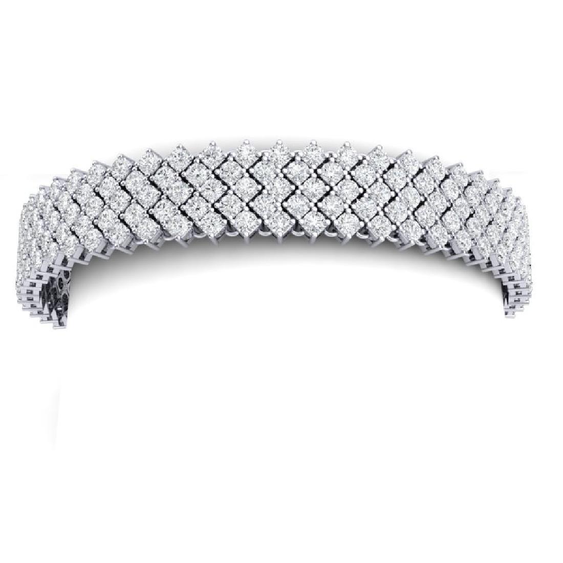 20 CTW Certified VS/SI Diamond Bracelet 18K White Gold - 2