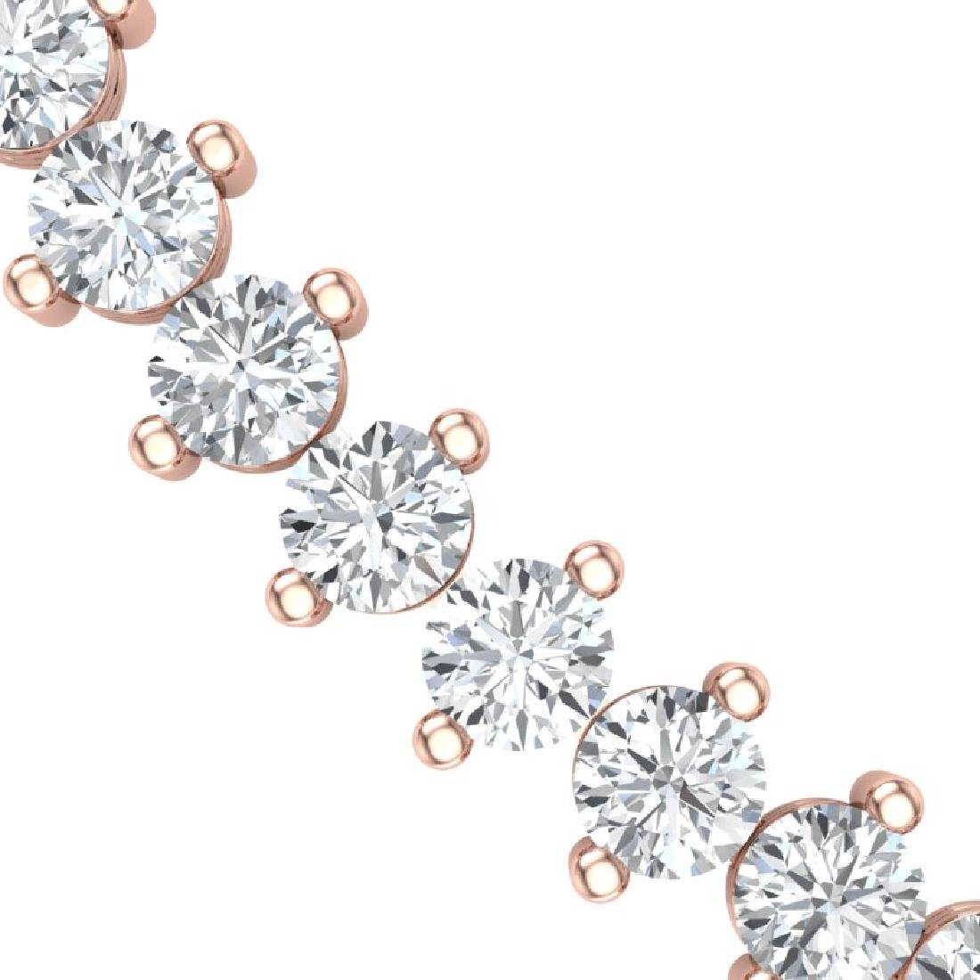 20 CTW Certified VS/SI Diamond Necklace 18K Rose Gold - 2