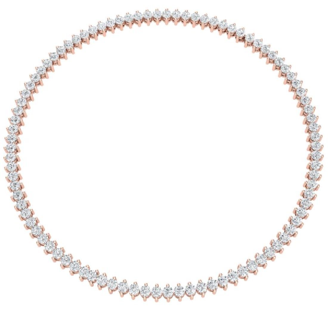 20 CTW Certified VS/SI Diamond Necklace 18K Rose Gold - 3